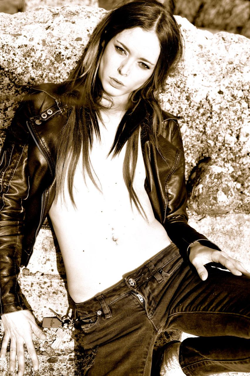 Savanna Leather Coat Rock Bad girl